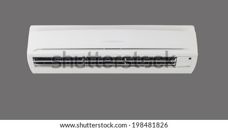 Air conditioner machine in isolate background. - stock photo