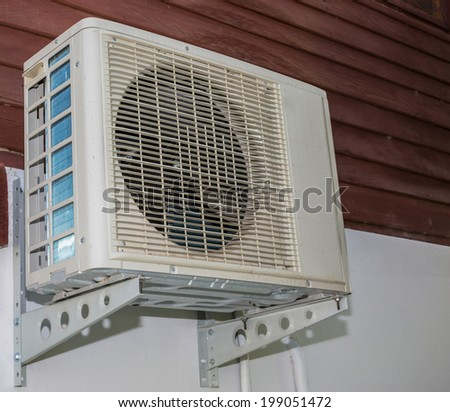Air conditioner on the wall. - stock photo