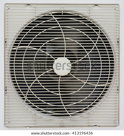 Air Conditioner Ventilation Fan Background - stock photo