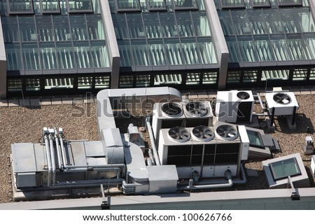Air conditioning equipment - stock photo