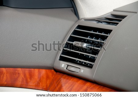 air conditioning in car - stock photo