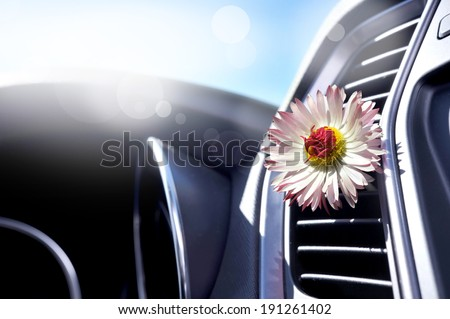 air-conditioning in the car - stock photo