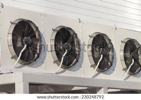 air conditioning on the white background - stock photo