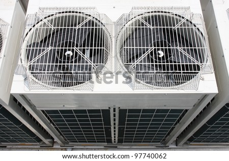 air conditioning,Outdoor Unit of Air Conditioner - stock photo