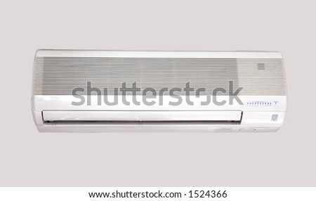 Air Conditioning over gray background - stock photo