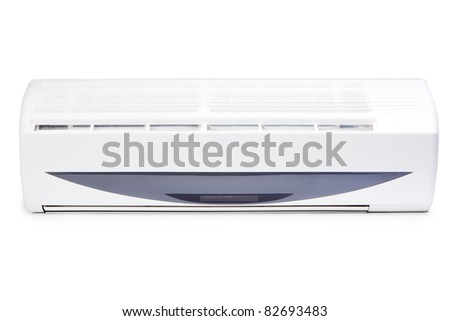 air conditioning system on white background, isolated - stock photo
