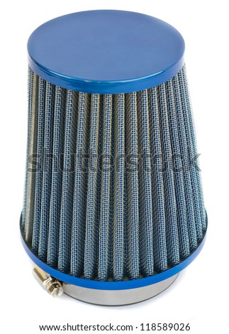 air cone filter of zero resistance. Vehicle Modification Accessories - stock photo