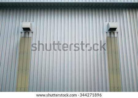 Air exhaust ventilation of factory.