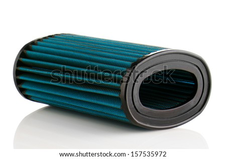 Air filter on white background. Vehicle Modification Accessories.