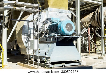 Air filter, part of the wet esp system for cleaning the air from the industrial process of a smelter, foundry plant AURUBIS, Pirdop, Bulgaria, November 06, 2015. - stock photo