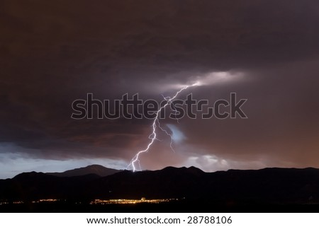 Air Force Academy Lightning - stock photo