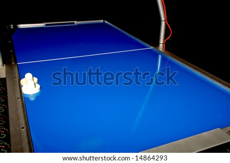 Air Hockey Table - stock photo