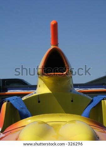 Air intake of an race car - stock photo
