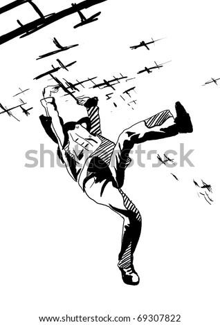 Air - man - stock photo