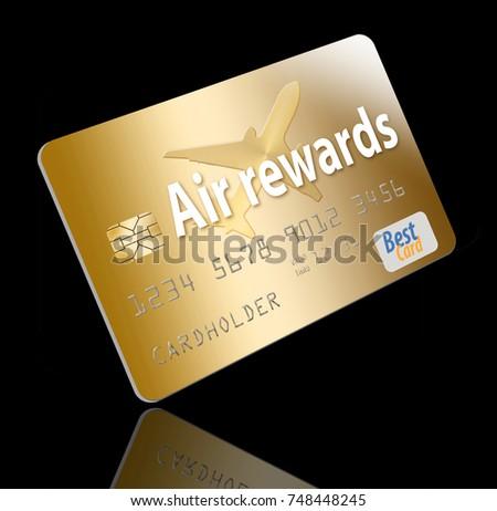 Air miles air rewards credit card stock illustration 748448245 air miles air rewards credit card reheart Gallery