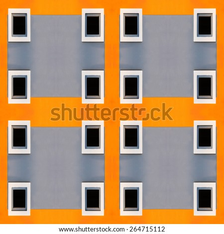 Air passage on wall house - stock photo
