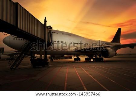 air plane - stock photo