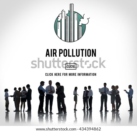 Air Pollution Carbon Dioxide Dirty Energy Toxic Concept - stock photo