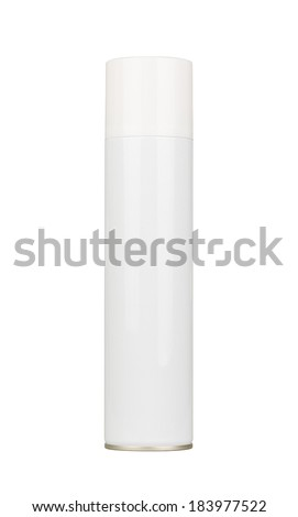 Air spray bottle. Blank. Isolated on white. - stock photo