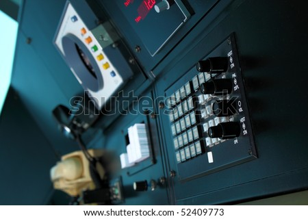 Air traffic control communication and navigation equipment - stock photo
