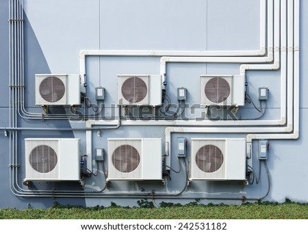 air ventilation systems on the wall  - stock photo