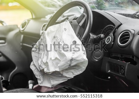 airbag exploded car accidentcar crash air stock photo 552115318 shutterstock. Black Bedroom Furniture Sets. Home Design Ideas