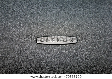 Airbag sign - stock photo
