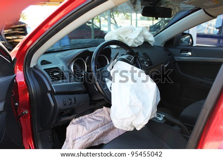 Airbags safety - stock photo