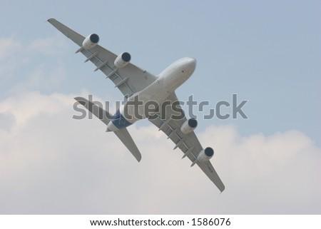 Airbus A380 midair - stock photo