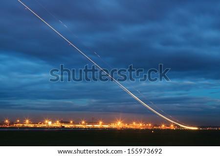 Aircraft at take off - stock photo