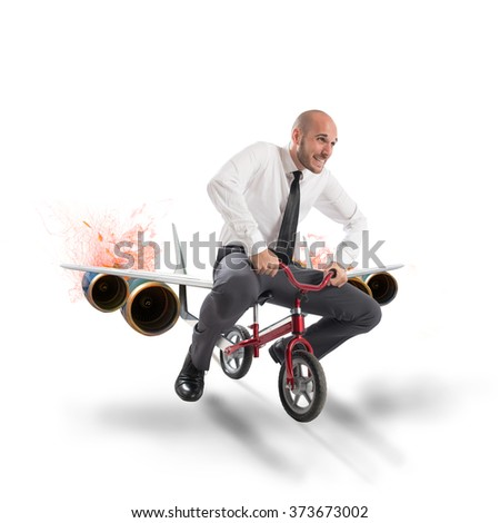 Aircraft bike - stock photo