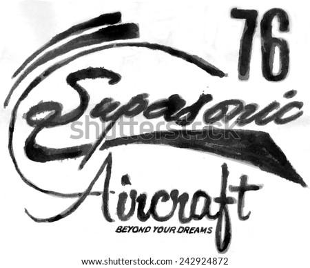 AIRCRAFT FONT - stock photo