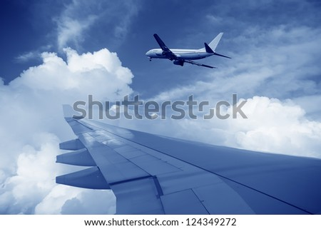 Aircraft in the sky - stock photo
