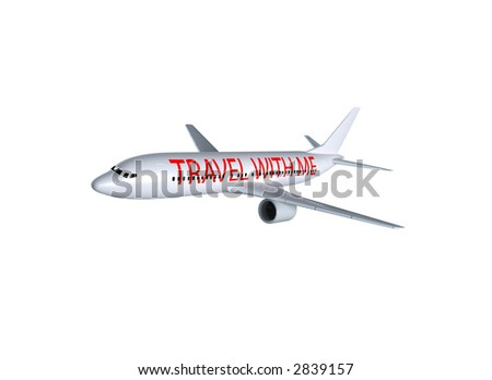 aircraft isolated - stock photo
