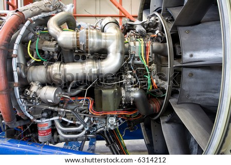 Aircraft jet engine detail