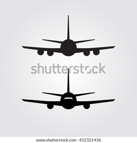 Aircraft or Airplane Icon,