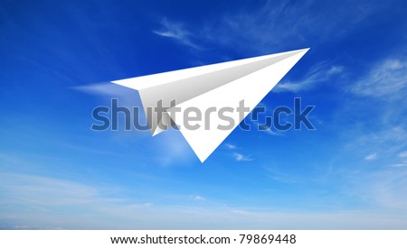 aircraft paper - stock photo