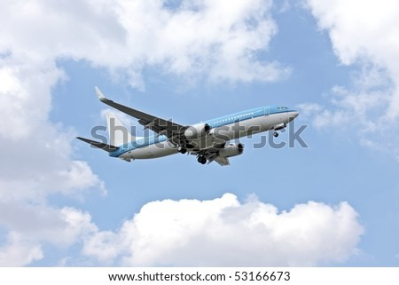 Aircraft ready for landing in the Netherlands