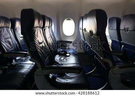aircraft seats - stock photo