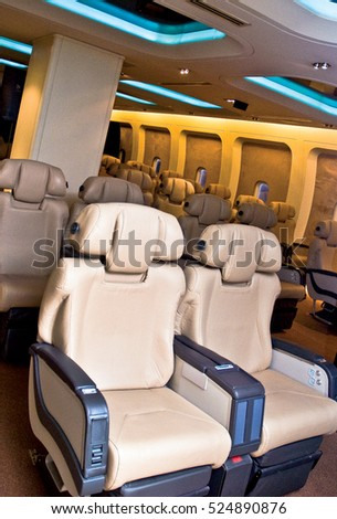 Aircraft seats, comfortable flight and convenience.