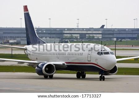 Aircraft Taxiing at O'Hare - stock photo