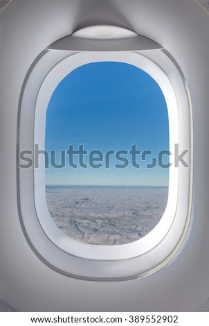 Aircraft Windows,airplane windows - stock photo