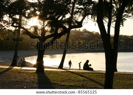 Airlie beach in Queensland Australia - stock photo