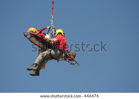 Airlift rescue - stock photo