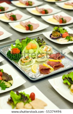 airline foods - stock photo