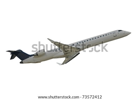 Airliner isolated on white background - stock photo