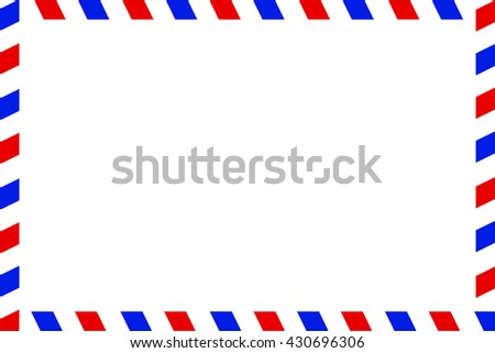 Airmail backside blank template