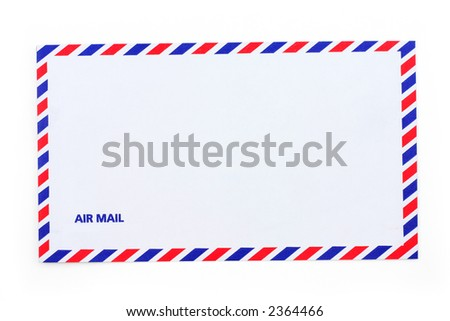 airmail envelope, close up - stock photo