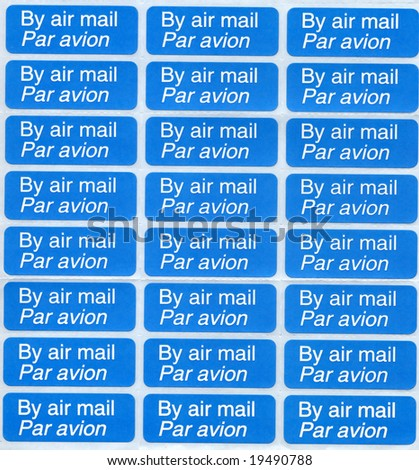 Airmail labels - stock photo