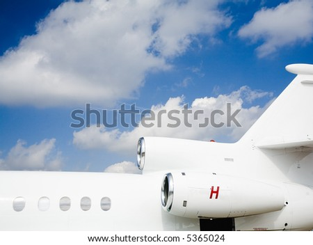 airplane background for you imagination - stock photo